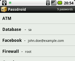 Passdroid Android