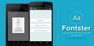 fontster para android