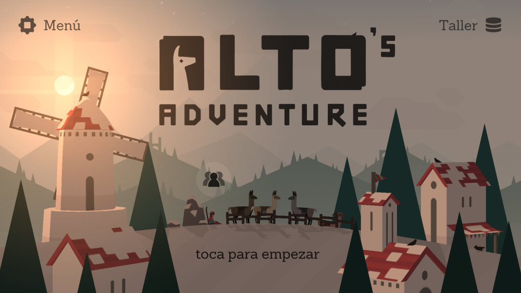 Alto´s Adventure menú en Android